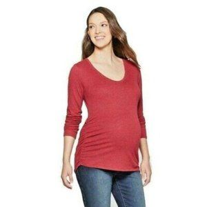 Isabel Maternity Red Long Sleeve T-Shirt
